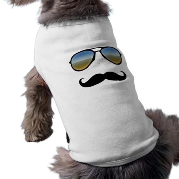 Retro Dog Moustache T-Shirt