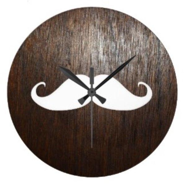 Vintage Moustache Clock