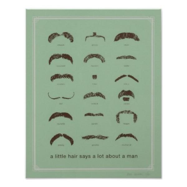 Famous Moustaches Poster