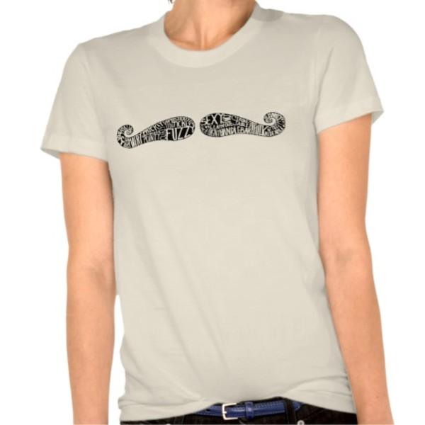 Wordy Moustache T-Shirt