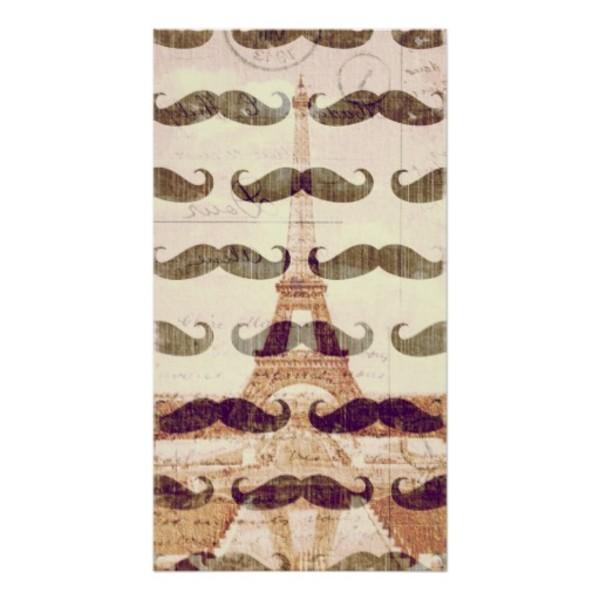 Paris Moustache Poster