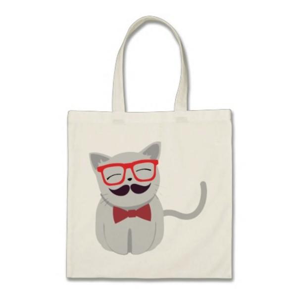 Moustache Cat Bag