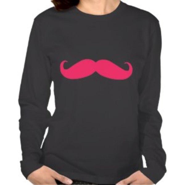 Black Long-Sleeve Moustache Shirt