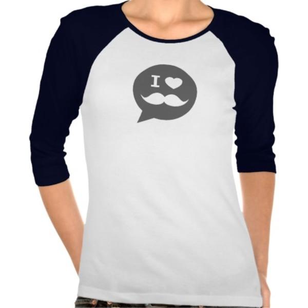 Speech Bubble Moustache T-Shirt