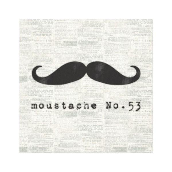 Moustache Wall Canvas