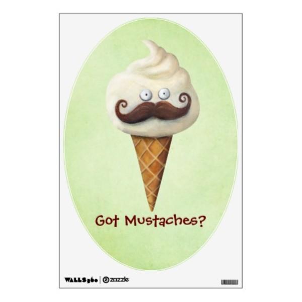 Ice Cream Moustache Poster