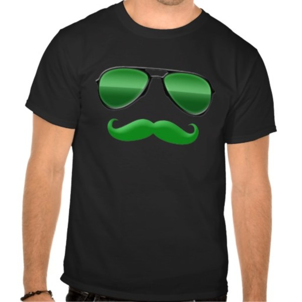 Disguised Leprechaun Moustache T-Shirt