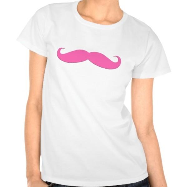 Pink Moustache T-Shirt