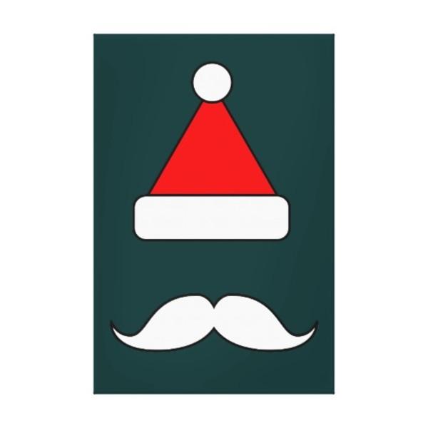 Moustache Santa Canvas