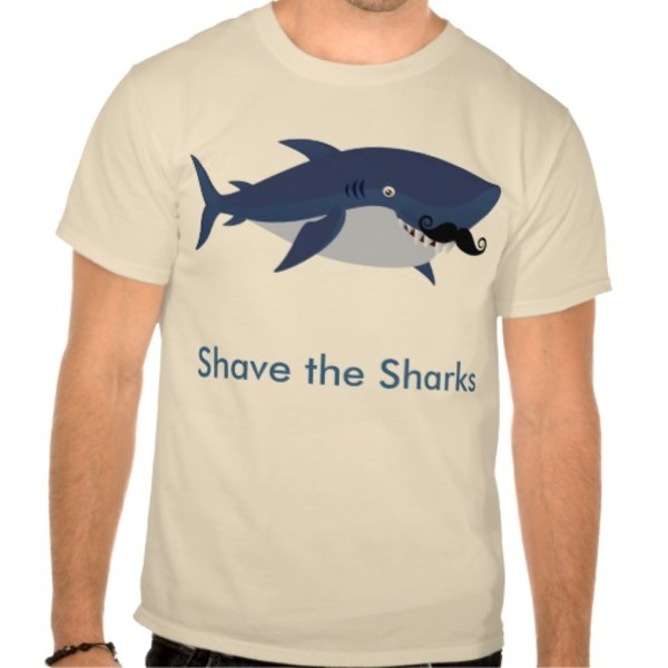 Shark Moustache T-Shirt