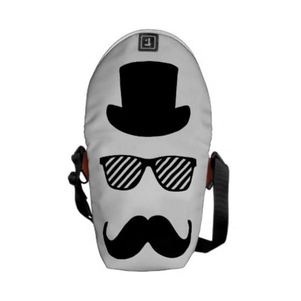 Top Hat Moustache Bag