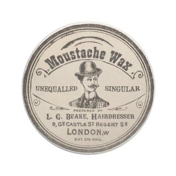 Vintage Moustache Coasters