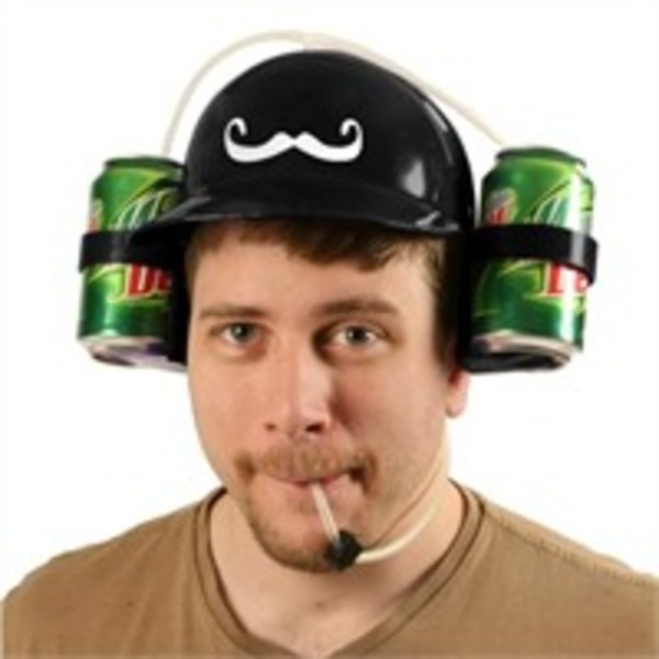 Moustache Beer Helmet