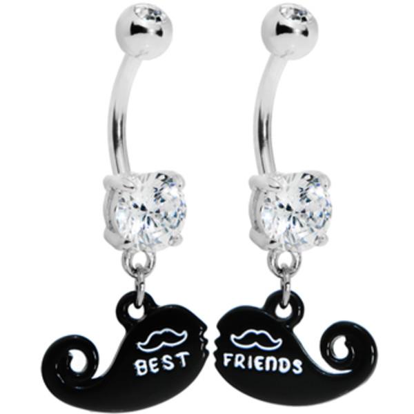 Best Friends Moustache Belly Ring