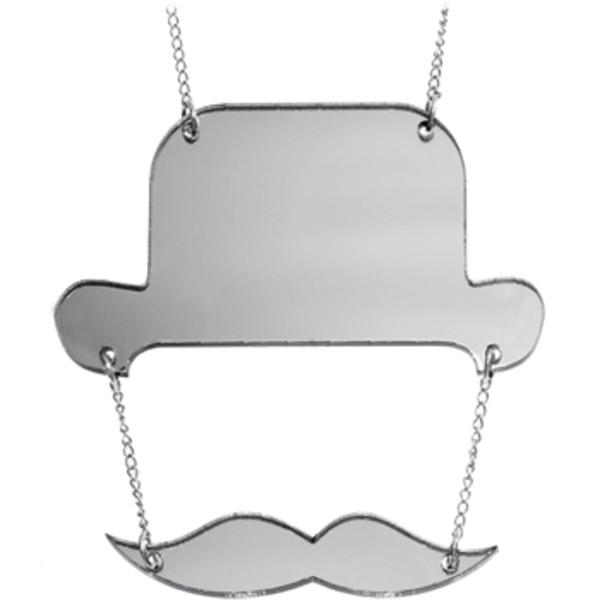 Top Hat Moustache Necklace