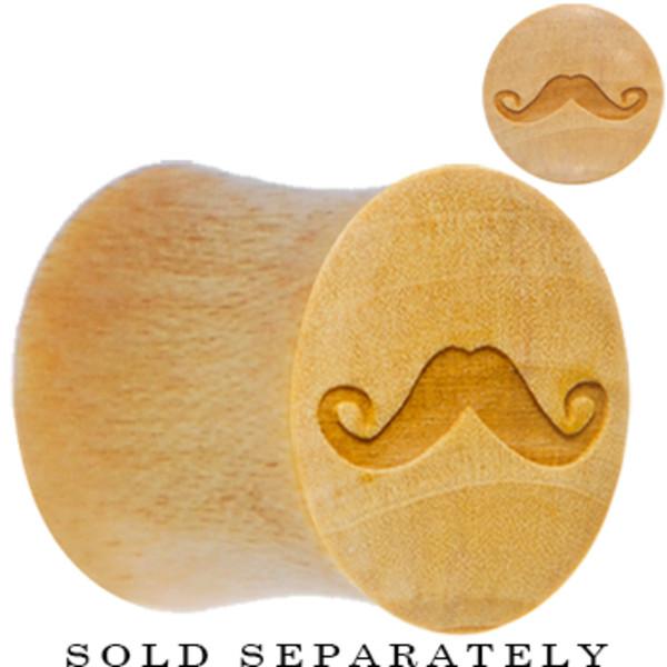 Wooden Moustache Plug
