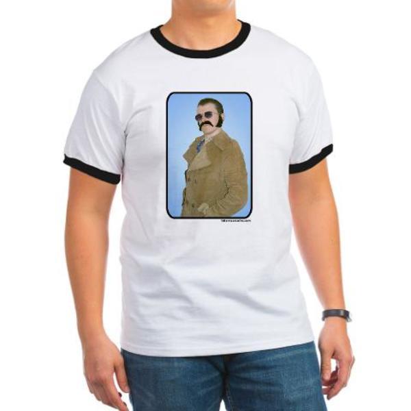 Ash Grey Moustache T-Shirt
