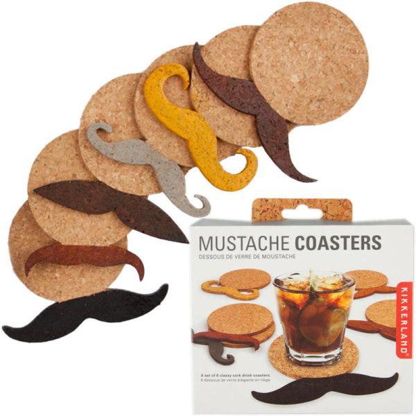 Cork Moustache Coasters