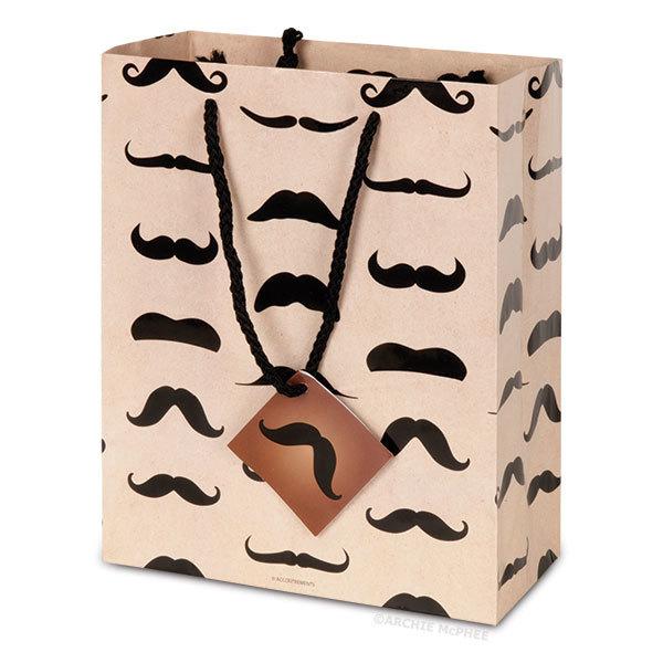 Moustache Present Bag