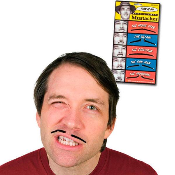 Pencil Thin Fake Moustaches
