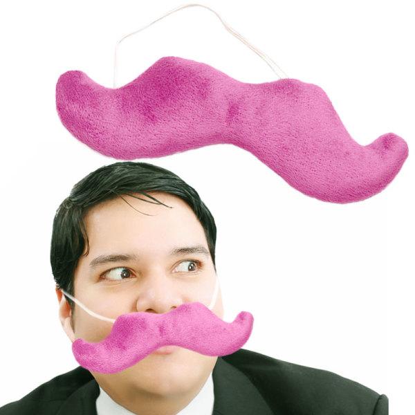 Pink Plush Fake Moustache