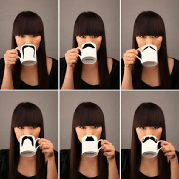 Various Moustache Mugs
