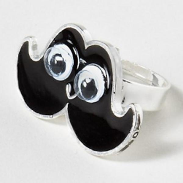 Googly Eye Moustache Ring