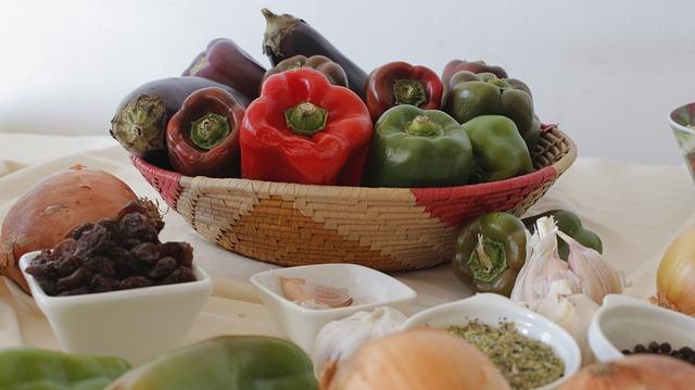 Alimentos base en la dieta mediterránea