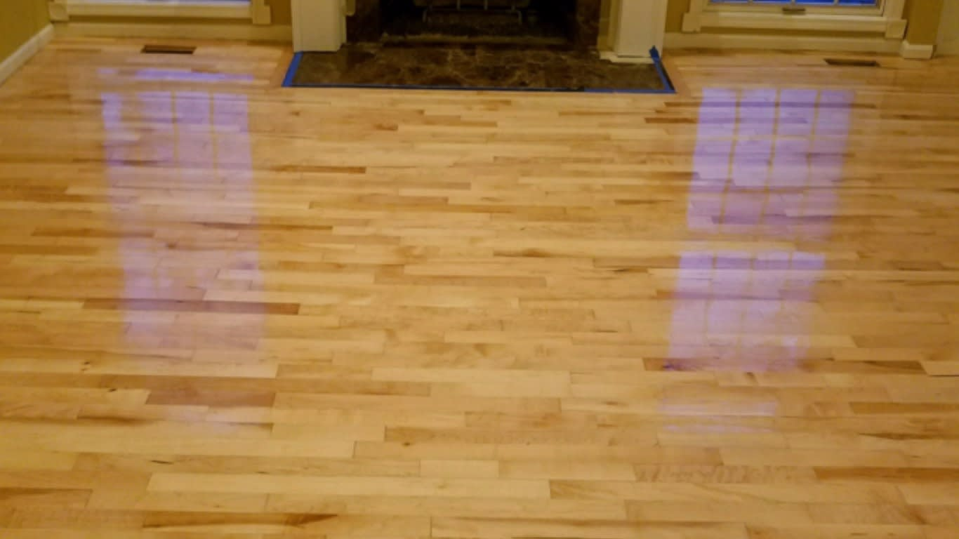 Image showing a natural stain on a floor, a lighter color