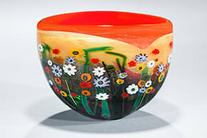 Red Yellow Garden Series Bowl