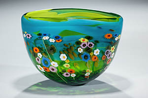Turquoise Lime Garden Series Bowl