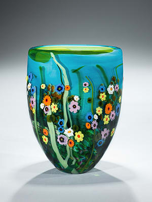 Turquoise Lime Garden Series Vase