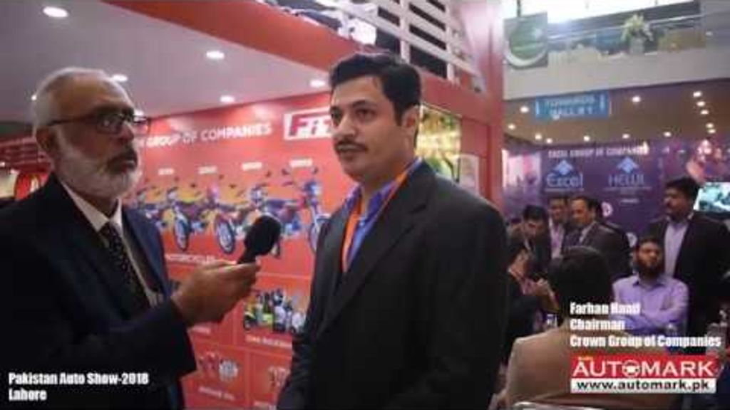 Farhan Hanif Chairman Crown Group of companies with Automark during Pakistan Auto Show-2018 - Automark