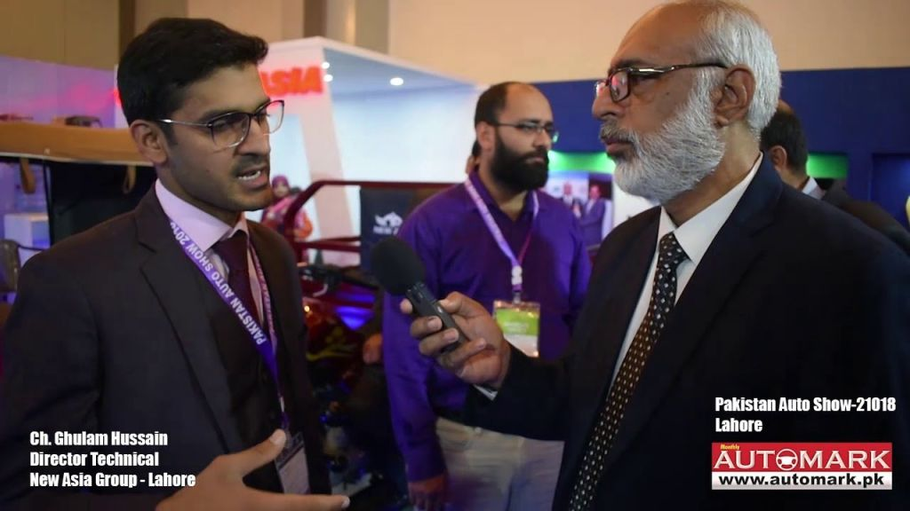 Director Technical Ch. Ghulam Hussain from New Asia Group with Automark - Automark