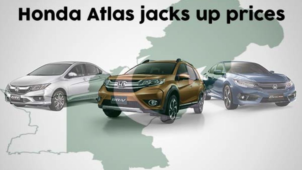 Honda Atlas rises car prices for Pakistan - Automark