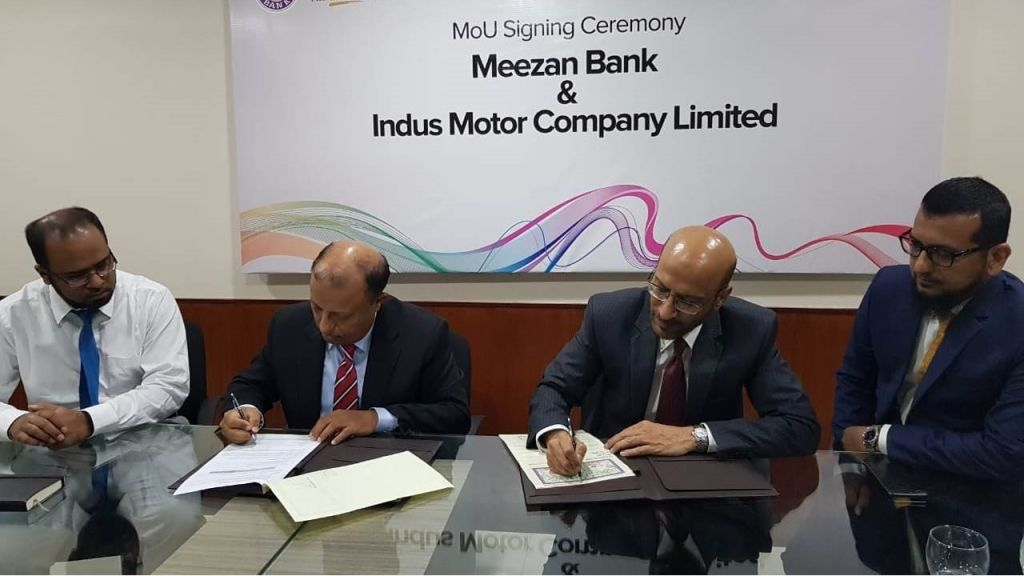 Indus Motor Company Limited (IMC) and Meezan Bank sign Memorandum of Understanding for Priority Delivery of all Toyota vehicles - Automark