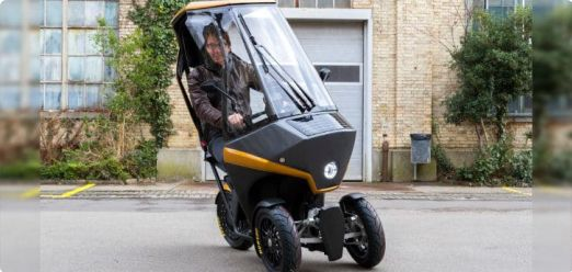 This 3-Wheel Electric Scooter Runs on Solar Power and Will Easily Get You Out of Traffic Jams