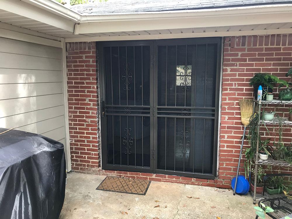 Tulsa Patio Door With Screen Ornamental Security