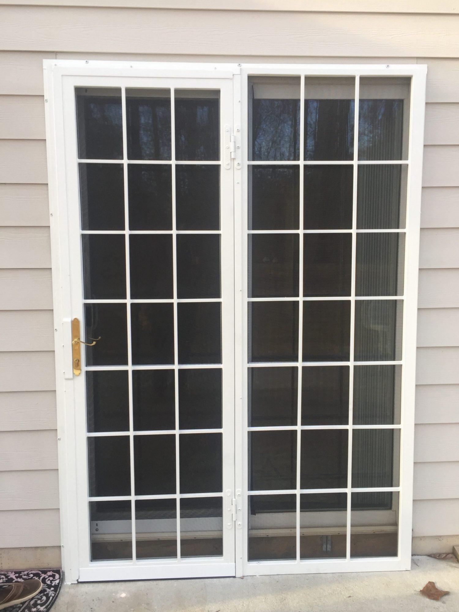 Williamsburg Patio Door With Screen 2 Ornamental Security