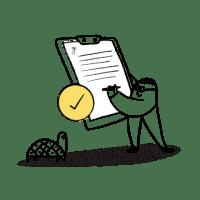 Person holding checklist