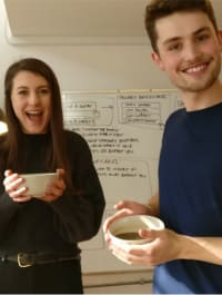 Holly and Harry with their gravy