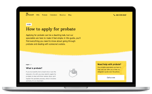 How to apply for probate guide open on a laptop