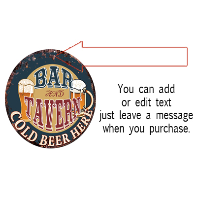 CPBT-0029 LARRY/'S BAR N TAVERN COLD BEER HERE Sign Father/'s Day Gift