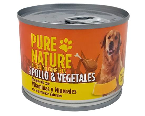 Pure Nature Perro Pollo+Vegetales 170G