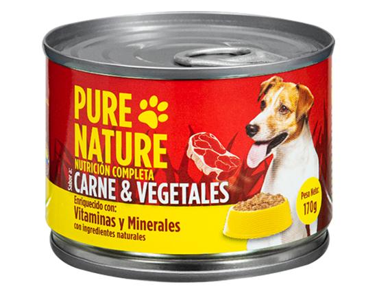 Pure Nature Perro Carne+Vegetales 170G