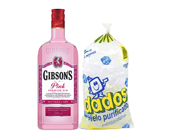 Combo Gin: Gibson Pink + Hielo Dados