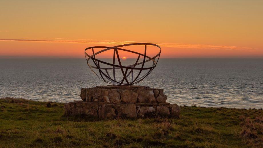 Watch a stunning sunset at St Aldhelms Head