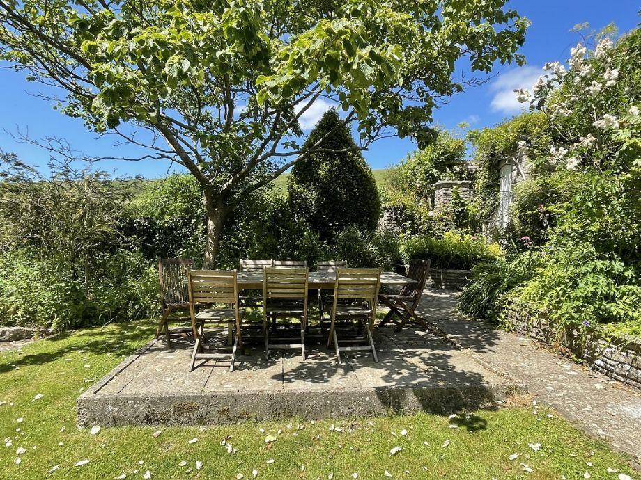 Enjoy lunch in the picturesque garden