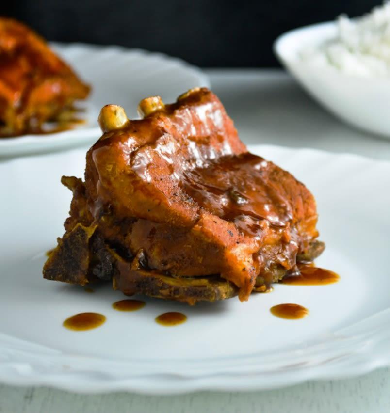 Costillas de cerdo con salsa Hoisin