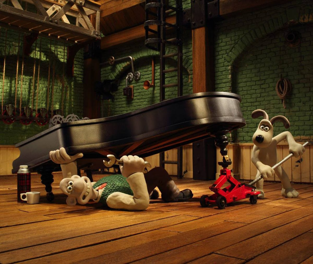 Wallace & Gromit Production Shot